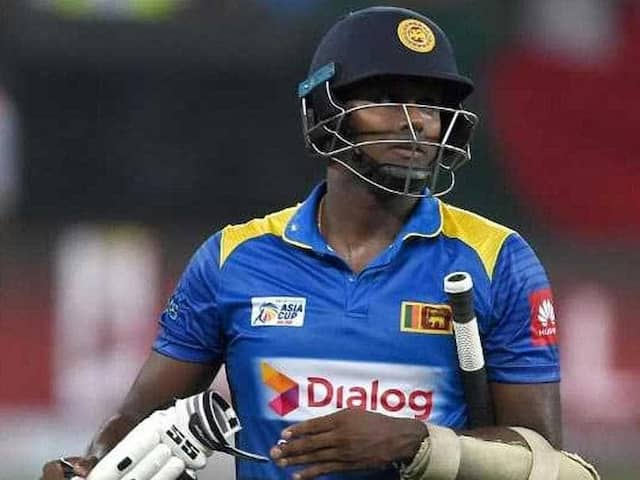 Im A Scapegoat Says Sacked Sri Lanka Captain Angelo Mathews