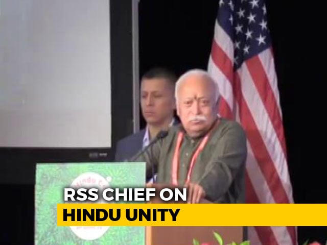 Video : Mohan Bhagwat Calls For Hindu Unity, Says Wild Dogs Can Destroy Lone Lion