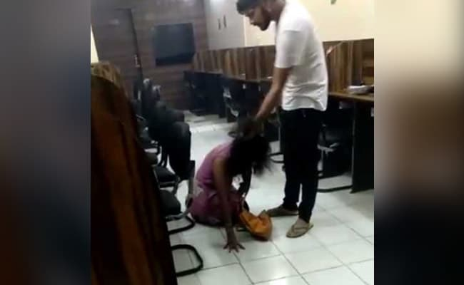 Delhi Police Suspends Cop Whose Son Thrashed Woman In Video