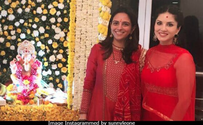 Ganesh Chaturthi 2018: For Sunny Leone And Husband, This Year's Celebrations Were Special Indeed