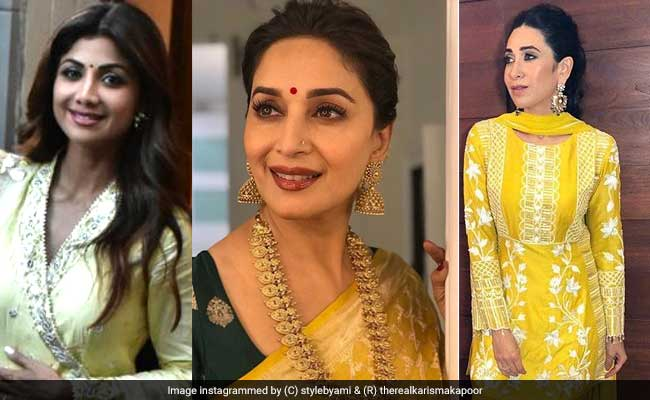 Shilpa Shetty, Madhuri Dixit And Karisma Kapoor Are All About Yellow Outfits This Festive Season