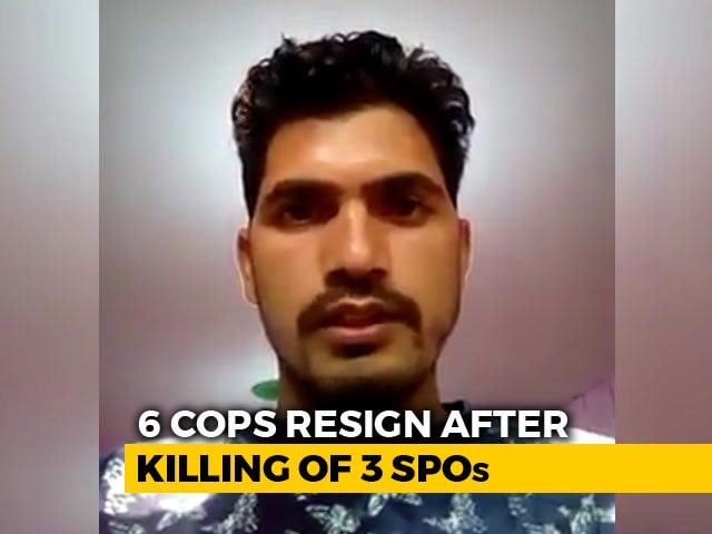 "Video : ""Propaganda,"" Says Centre After Kashmir Cops' Resignation Videos Surface"