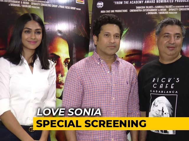 Video : Mrunal Thakur's Debut Is Equal To A Double Century: Sachin Tendulkar