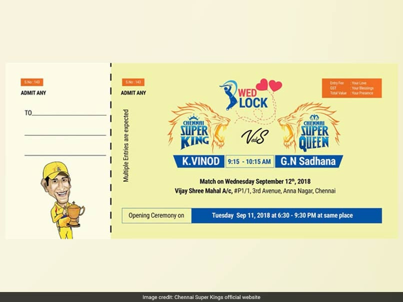 Chennai Super Kings Fan Shows His Love For Club With A Unique Marriage Invite