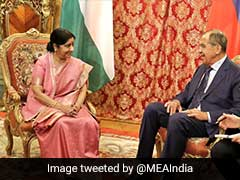 Foreign Minister Sushma Swaraj Meets Russian Counterpart In Moscow