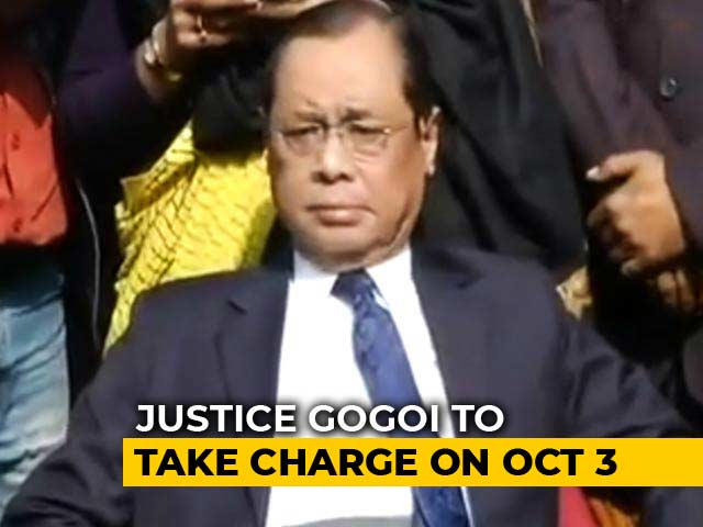 Video : President Appoints Ranjan Gogoi Chief Justice, To Take Office On Oct 3