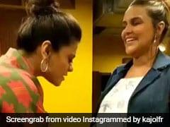 जब नेहा धूपिया के बेबी बंप से खेलने लगीं काजोल, वीडियो हुआ Viral
