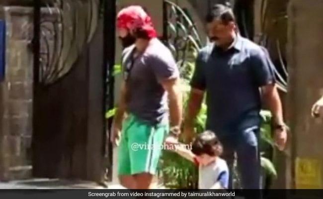 तैमूर अली खान को पापा सैफ अली खान के साथ यूं लगानी पड़ी रेस, Video हुआ वायरल