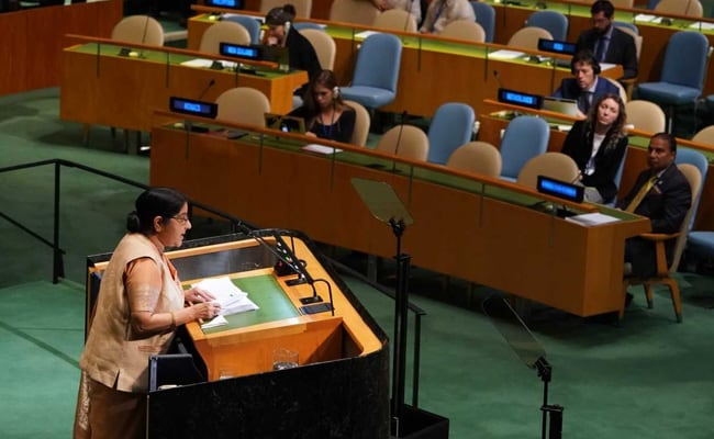 Full Text Of Sushma Swaraj's Speech At 73rd UN General Assembly