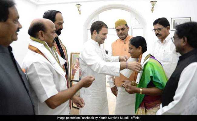 Former Telangana Rashtra Samithi Leader, Husband Join Congress