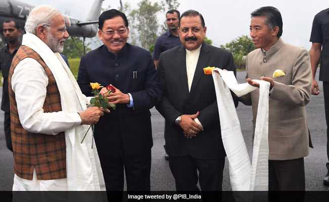 PM Modi Lands In Sikkim, To Inaugurate State's First Airport Today