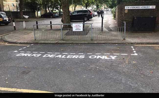 Fed-Up, Street Artists Erect Road Signs To Shame London Drug Dealers