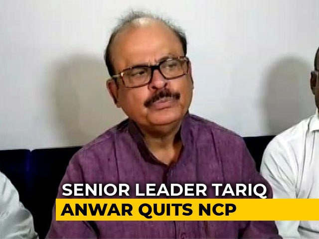 "Video : Tariq Anwar Quits NCP After Sharad Pawar's ""Defence"" For PM Modi On Rafale Deal"