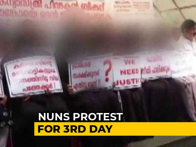 "Video : ""Will Fight, No Matter What"": 4 Kerala Nuns Defy Church To Join Protest"