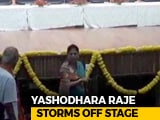Video : Mother's Photo Missing On Stage, Angry Yashodhara Raje Scindia Walks Off