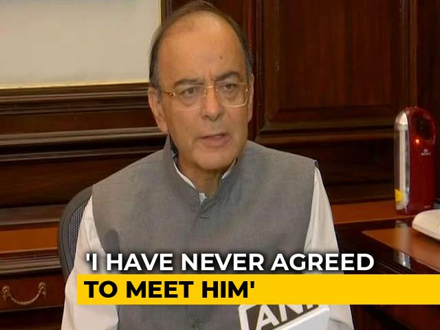 Video : Never Gave Appointment To Vijay Mallya Since 2014, Says Arun Jaitley