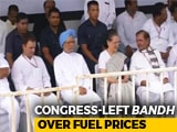 Video : Sonia Gandhi, Manmohan Singh Join <i>Bharat Bandh</i> Over Rising Fuel Prices