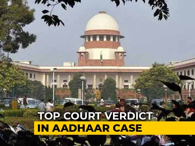 Video : Can Aadhaar Be Made Compulsory? Supreme Court Decision Tomorrow