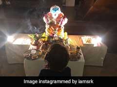 Ganesh Chaturthi 2018: AbRam Calls Ganpati 'Pappa,' Reveals Shah Rukh Khan