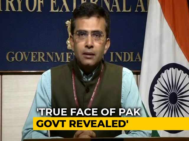 "Video : India Calls Off Talks With Pak, Says ""Imran Khan's True Face Exposed"""