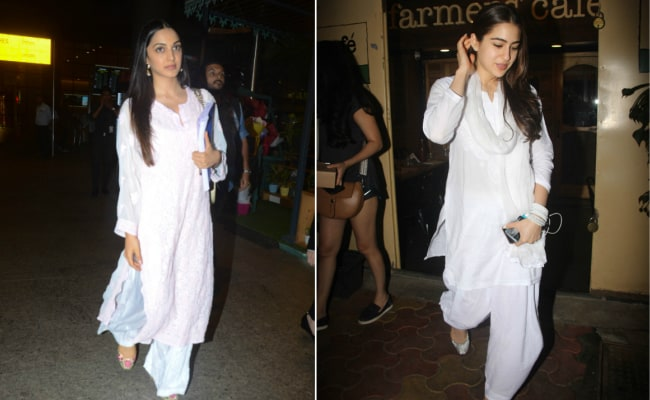 Kiara Advani And Sara Ali Khan Prove That Basic White Suits Are Trendy Too