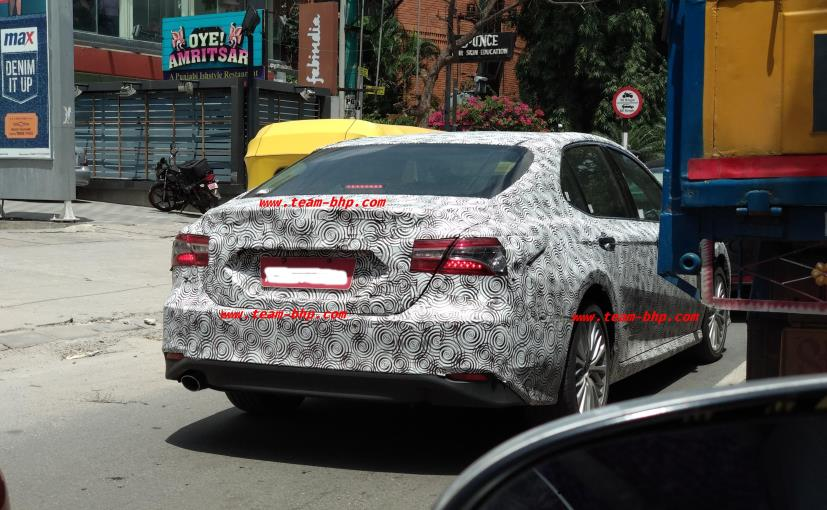 Next Gen Toyota Camry Spotted Testing In India Ndtv Carandbike