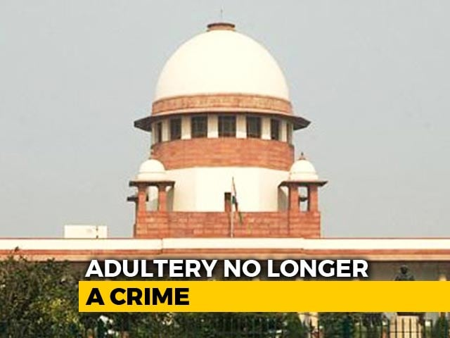 Video : Adultery Not A Crime, Law Is Unconstitutional, Rules Supreme Court