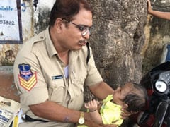 Telangana Cop Babysits While Mother Writes Exam, Wins Hearts