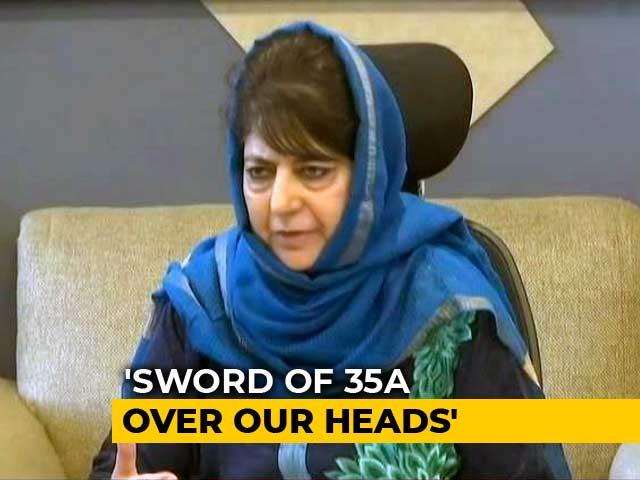 "Video : ""Anything For Article 35A"": Mehbooba Mufti's PDP To Boycott Local Polls"