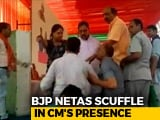 Video : BJP Left Red-Faced As Leaders Fight At Vasundhara Raje Rally