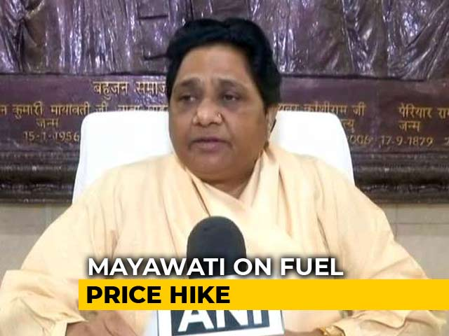 Video : On Fuel Price Hike, Some Friendly Fire From Mayawati