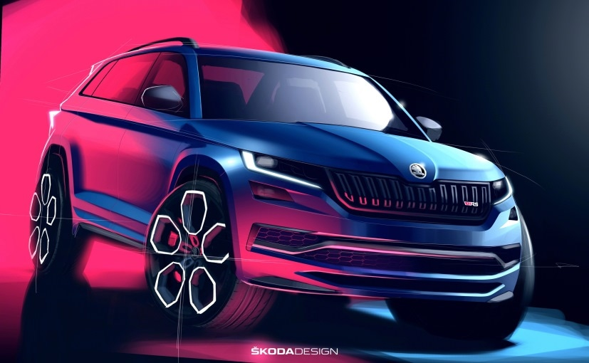 Skoda Kodiaq Rs Design Sketches Released Ahead Of Paris Debut Ndtv