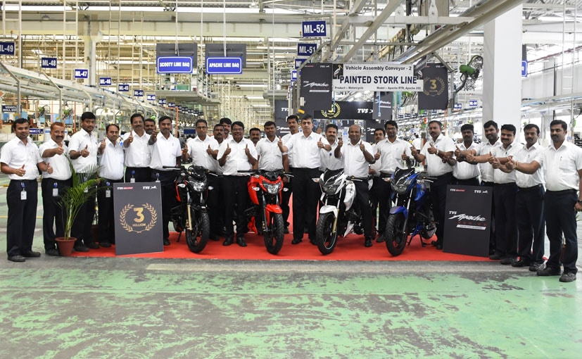 TVS Apache Reaches 3 Million Sales Milestone Since Launch