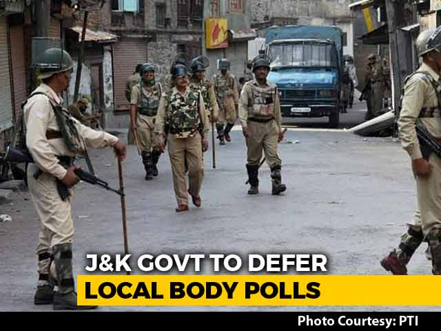 Video : Jammu and Kashmir Local Polls May Be Moved After Parties Boycott: Sources