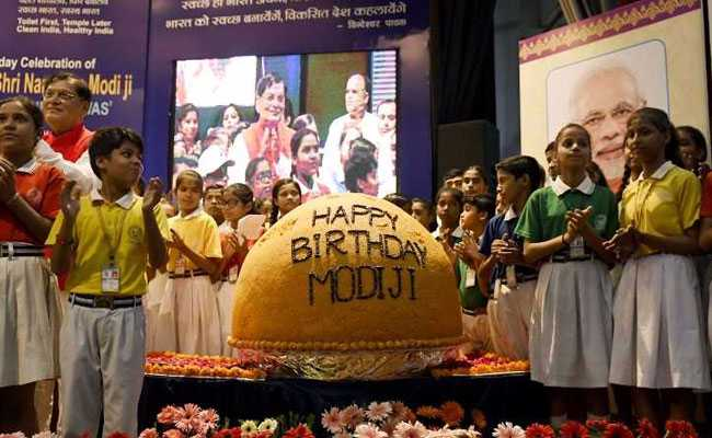 Giant 568-Kg Ladoo Unveiled To Mark PM Modi's 68th Birthday