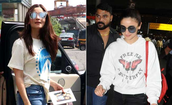 Alia Bhatt's Trick To Making Basic Outfits Special - Just Add Big Sunglasses