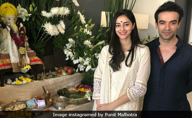 Ganesh Chaturthi 2018: Student Ananya Panday Welcomes Bappa With Punit Malhotra