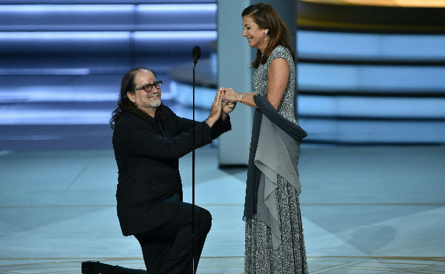 Emmy Winner Uses Speech To Propose To Girlfriend. Cheers And Tears From Crowd