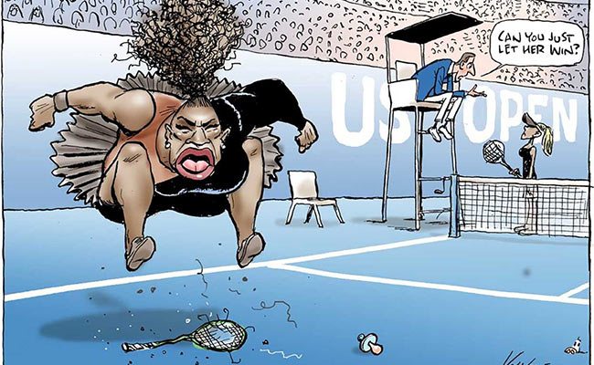 Cartoonist Slammed For Serena Williams Sketch, Featuring US Open Umpire