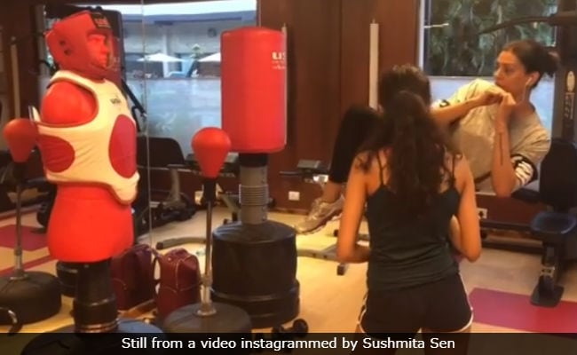 Sushmita Sen Doubles As Daughter Renee's Kick-Boxing Coach. Awesome Much?