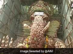 7,000 Banana Flowers Used To Make Eco-Friendly Ganesha Idol In Chennai