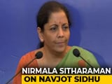 Video : Wish Navjot Sidhu Had Avoided Hugging Pak Army Chief: Nirmala Sitharaman