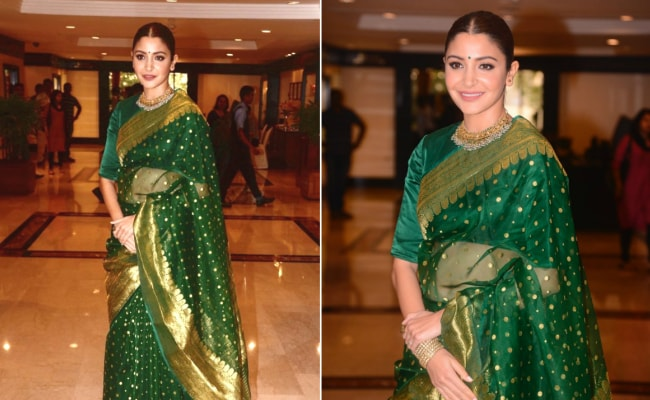 Anushka Sharma Steals The Attention In A <i>Benarasi Saree</i> - Again