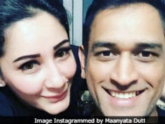 When 'MSD' Met 'MSD': Maanyata Dutt Shares Pic With Cricketer Mahendra Singh Dhoni
