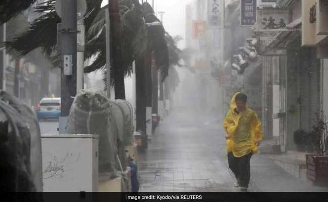 Heavy Rain, Strong Winds As Powerful Typhoon Approaches Southern Japan