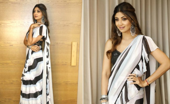 Shilpa Shetty Gives Us 60s Vibes With Her Chic <i>Saree</i> Look