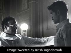 New <I>NTR</I> Poster Features Moment Between Nandamuri Balakrishna And Rana Daggubati