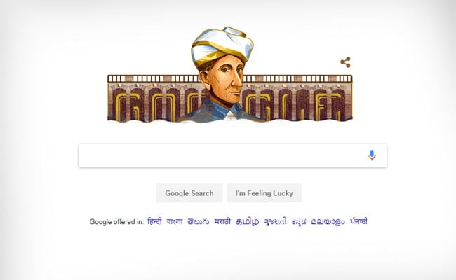 On Engineer's Day, Google Doodle Celebrates M Visvesvaraya's Birthday