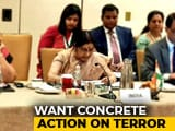 "Video : ""Need Action Before Meetings"": Sushma Swaraj's Clear Message To Pak"