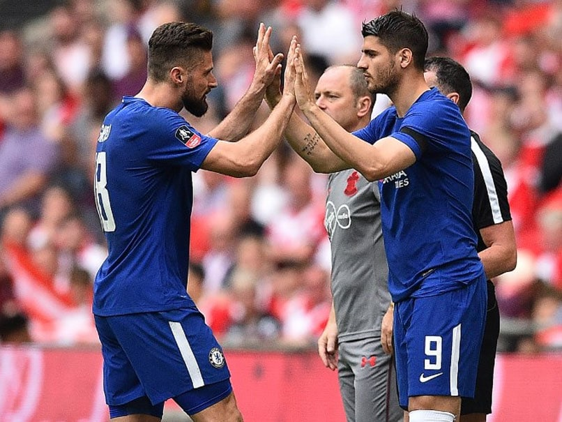 Olivier Giroud And Alvaro Morata Battle For Chelsea Starting Spot